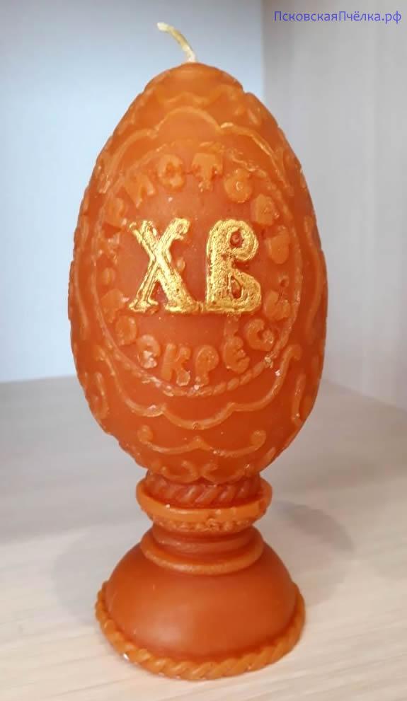 Свеча яйцо на пасху - 360 руб